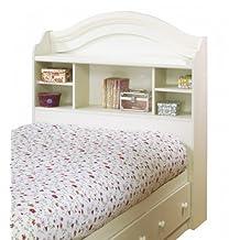 South Shore Furniture, Summer Breeze Collection, Bookcase Headboard 39-Inch, Vanilla Cream