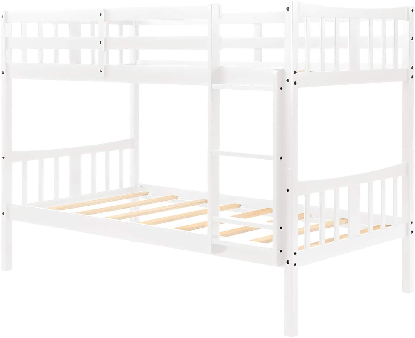 Beck OrlaIigt Bedroome for niños Twin sobre Twin Bunk Bed Cama Doble de Madera con Escalera: Amazon.es: Hogar