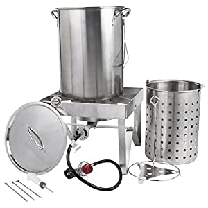 Turkey Fryer Kit,/ Steamer Kit All Stainless Steel 30 Qt.(original product)