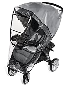 Weltru Premium Stroller Rain Cover Weather Shield, Easy in/Out Zipper, Universal Size, Waterproof, Protects Against Wind, Rain, Snow, Insects