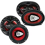 NEW BOSS CH6530 6.5 3 Way300w + 6x9 CH6930 350W Car Coaxial Speakers Package