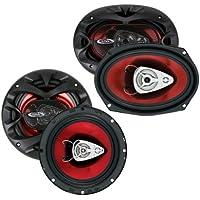 NEW BOSS CH6530 6.5 3 Way300w + 6x9 CH6930 350W Car Coaxial Speakers Package
