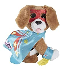 Give your child their dream come true of owning their own pet without all of the hassle. Includes: (1) Pet, (2) Capes, (2) Arm Bands, (2) Masks,(1) Bone, and Instructions. Features: 100+ barks & phrases, Light-up translating collar, Respo...