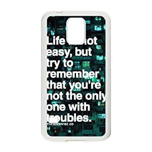 Quotes Unique Design Cover Case for SamSung Galaxy S5 I9600,custom case cover ygtg528389