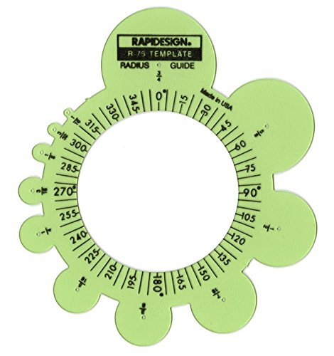 - Rapidesign Radius Guide Template, 1 Each (R75)