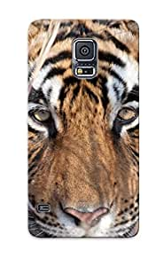 Quality Exultantor Case Cover With Animal Tiger Nice Appearance Compatible With Galaxy S5()
