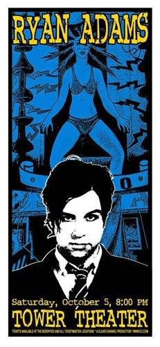 Ryan Adams Poster 2003 Concert