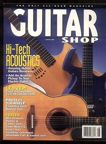 Guitar Shop Volume August 1995 Led Zeppelin Peavey Fender Peavey Gibson MBX49