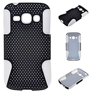 Peng Kairui888 2 in 1 Hybrid Metal & Silicone Design Skin Case Cover for Samsung Galaxy Ace 3 S7270 S7272 S7275 White & Black