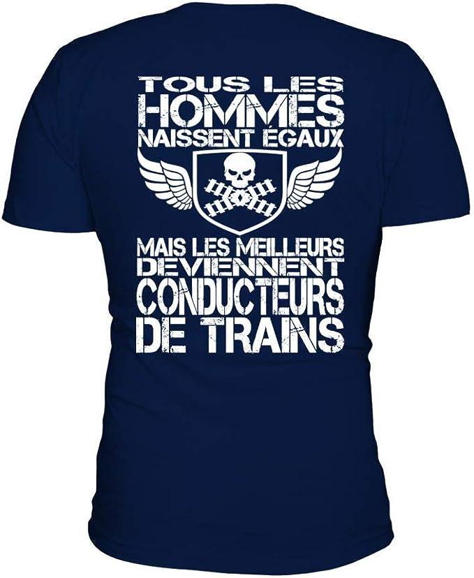 TEEZILY T-Shirt Homme Tous Les Hommes Naissent /égaux mais Les Meilleurs Deviennent bouchers