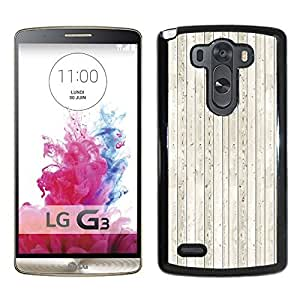 White Wood Durable High Quality LG G3 Phone Case