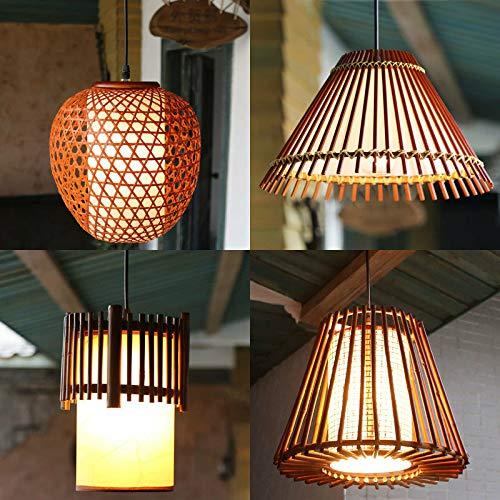 FidgetGear American Country Pastoral Style Bamboo Pendant Lamp Chandelier Hanging Light 190 by FidgetGear (Image #8)