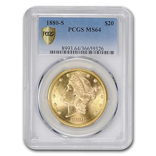 1880 S $20 Liberty Gold Double Eagle MS-64 PCGS G$20 MS-64 PCGS