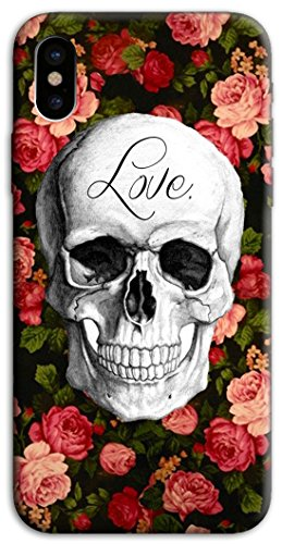Mixroom - Cover Custodia Case In TPU Silicone Morbida Per Apple Iphone X M573 Teschio Love