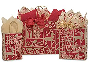 Woodcut Christmas Assortment 50 Rose, 50 Cub, 25 Vogue (125 bags) - WRAPS-WCCA