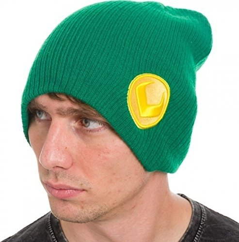 Beanie Cap  Marvel  Loki Green Slouch Hat New Anime Licensed kc1eh8mvl by Bioworld