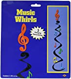 Musical Note Whirls   (3/Pkg)