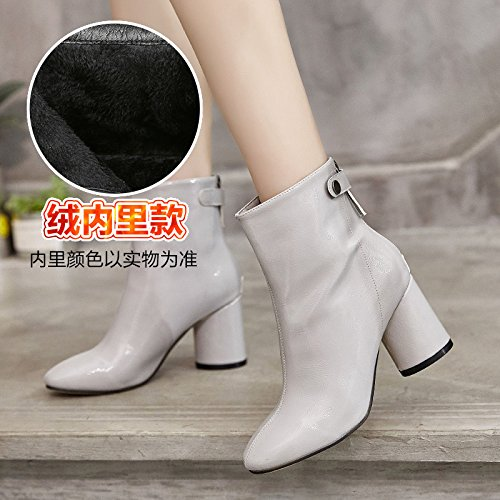 Match Winter Boots Shoes and All GUNAINDMXShoes cashmere Grey Boots Martin Leather qZXaW7w