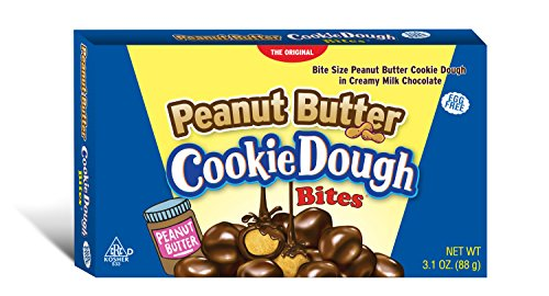 Cookie Dough Bites, Peanut Butter, 3.1 Ounce (Pack of 12) -