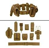 Ultimate Arms Gear FDE Flat Dark Earth Tan 10pc Police-Law Enforcement-Security Gear Modular Nylon Duty Belt With Pistol/Gun Holster Fits HK H&K Heckler Koch Handgun