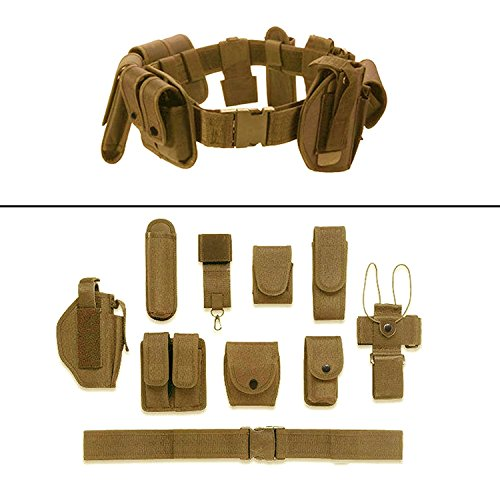 Deluxe Nylon Flashlight Holster (Ultimate Arms Gear FDE Flat Dark Earth Tan 10pc Police-Law Enforcement-Security Gear Modular Nylon Duty Belt With Pistol/Gun Holster Fits Springfield Armory XD XDS XDM Handgun)