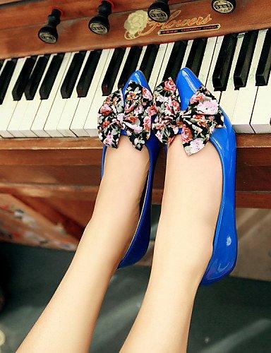 y casual cn41 de us9 vestido Flats negro uk7 bajo piel Toe PDX black zapatos mujer punta azul oficina sintética carrera eu40 de tacón rojo Z6n7qWRg