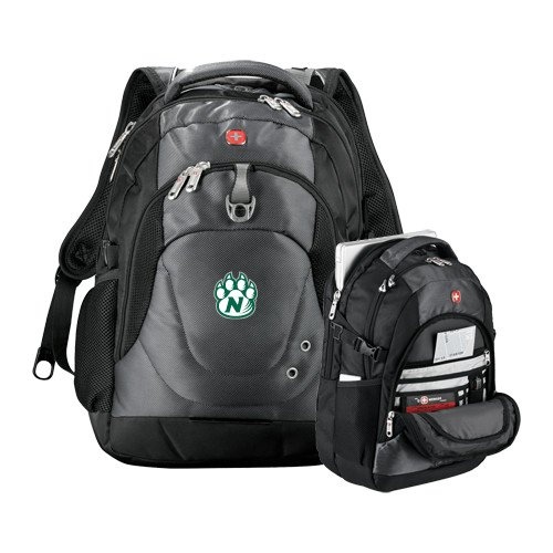Northwest Missouri State Wenger Swiss Army Tech Charcoal Compu Backpack 'Official Logo' by CollegeFanGear