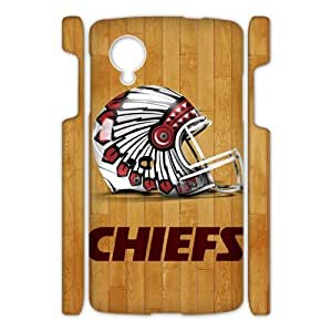 SUNNYGOOD DIY New Kansas City Chiefs Custom Case for Google Nexus 5 3D