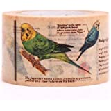 Nastro adesivo decorativo Washi pappagallino mt