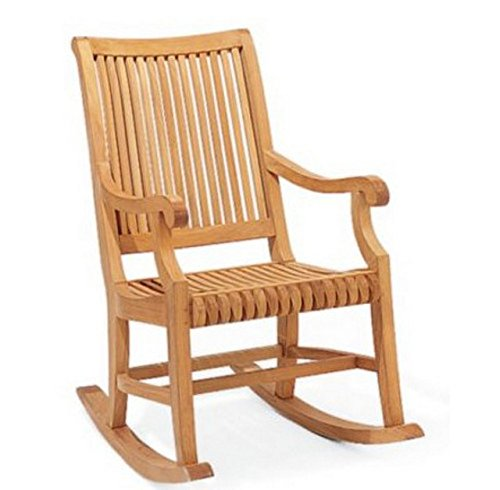 Grade A Teak Wood Outdoor Patio Giva Rocker / Rocking Arm Chair (Cushion not included) #WHRKGV