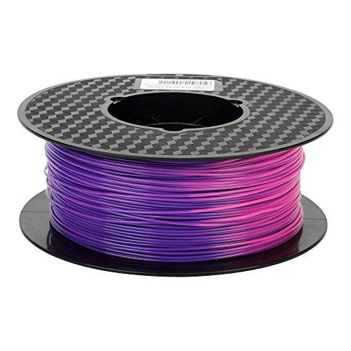 (Color Changing with Temperature 3D Printer PLA Filament,From Purple Blue to Pink,1.75 mm, Dimensional Accuracy +/- 0.05 mm, 1KG Spool(2.2LBS), 3D Printing PLA Material CC3D other Color Silk Gold Silve)