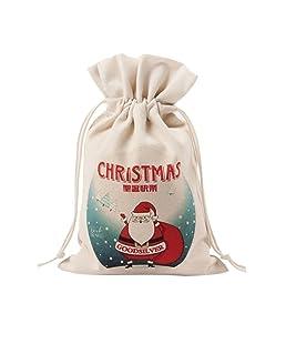 Leisial Sacchetto di Stoccaggio Domestico Borsa a Tracolla a Tracolla Sacchetto Regalo Creativo di Natale 10