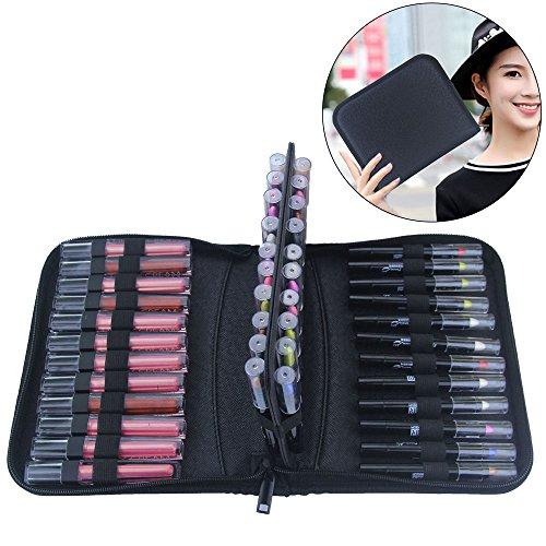 Makeup Marker Liquid - MONSTINA Lipstick Organizer,Lipstick Case,36 Slot Lipstick Bag,Carrying Marker Case Holder Marker Pen Case Cosmetic Tools,Waterproof and Antiskid Cosmetic Case