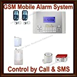 Rockmoun Electronics Wireless Home Business Security Burglar Alarm and 4-Band GSM Cellular All-In-One System ES10GSM-1w1m