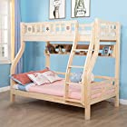 Sampo 松堡王国 北欧松木双层儿童床 子母上下床原木色(不含床中书架-选配) SP-MC8023S 2999元