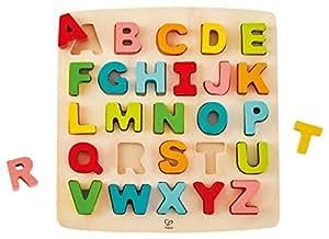 Hape Chunky Alphabet Wooden Puzzle Game, Multi, 5'' x 2''