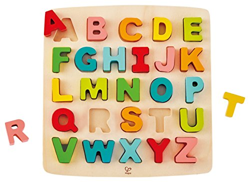 (Hape Chunky Alphabet Wooden Puzzle Game, Multi, 5'' x 2'' )
