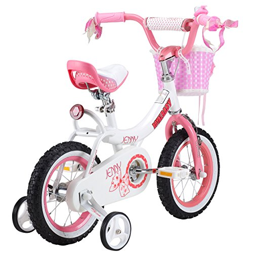 RoyalBaby Jenny Girl's Bike With Training Wheels And