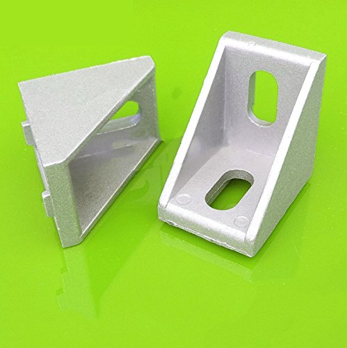 10pcs 2430 Grey Aluminum L Shape Brace Corner Joint Right Angle Bracket - 1