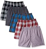 Apparel : Hanes Men's 5-Pack FreshIQ Boxer with Elastic Waistband