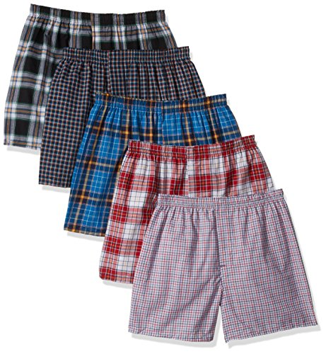Hanes Men`s Tagless Tartan Boxers with Comfort Flex Waistband, 3XL, Assorted by Hanes (Image #1)