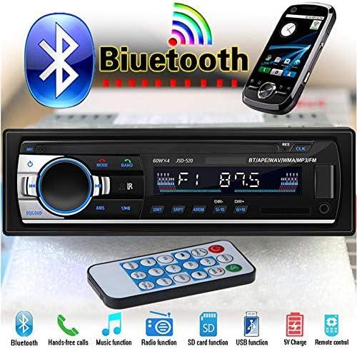 Lldhwx In Dash Bluetooth Integriert Jsd 520 Auto Radio 12v Car Radio Car Stereo Player Handy Aux In Mp3 Fm Usb Radio Remote Control Küche Haushalt
