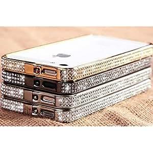 Mini - JOYLAND Metal and diamond Crystal Surface Metal Bumper Frame for iPhone 5/5S , Color: Black