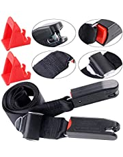 Keadic 3Pcs ISOFIX Car Seat Latch Strap and ISOFIX Latch Belt Connector Guide Groove Kit General for Child Safety Seats