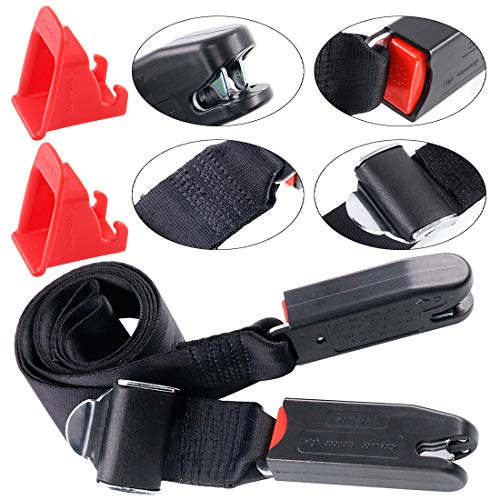 Keadic 3Pcs ISOFIX Car Seat Latch Strap and Interface Belt Latch Guide Kit General for Child Safety Seats