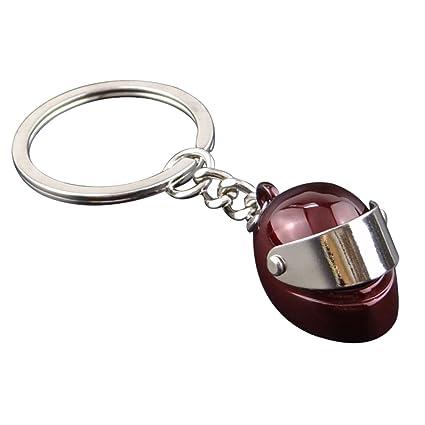 Amazon.com : Demarkt Creative Motorcycle Helmet Keychain ...