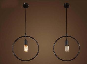 Amazon.com: Lámpara colgante retro de hierro forjado con ...