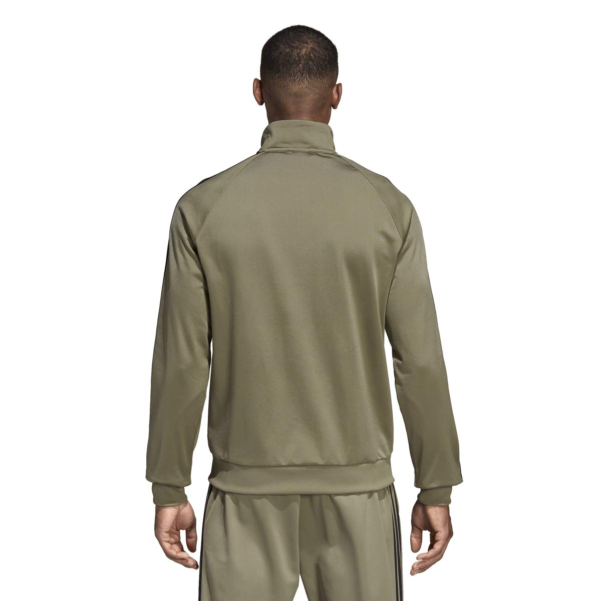adidas Essentials 3S Tricot Track Jacket Men's All Sports M Trace Cargo by adidas (Image #2)
