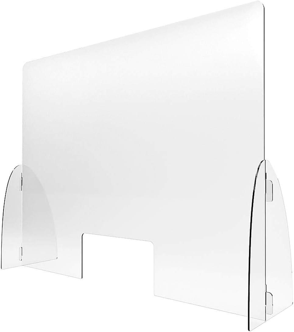 Paraban Ventanilla Separador transparente. Mampara para Mostrador Pantalla de protecci/ón