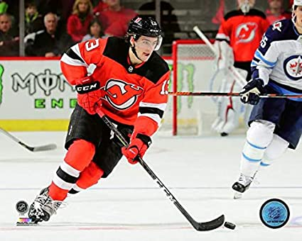 outlet store 2c833 cb15a Amazon.com: Nico Hischier New Jersey Devils 2018-2019 NHL ...